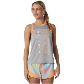 New Balance Printed Fast Flight Tank Women, Athletic grey heather